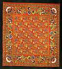 Calico scarf. End of 19th century. Ivanovo