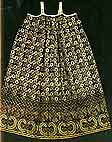 Sundress of the printed textiles. 19th century. Arkhangelsk region. Cubs printed textiles