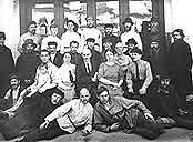 The Museum staff of the 1920s. In the middle of the 2d row: Svirin A.N., on the left Alexandrova-Dolnik, on the right – Merkulova A.D. In the 3d row the forth from the right – Derviz V.D.